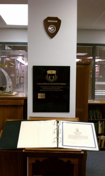 AFA Clark plaque