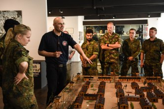 Dutch and German soldiers with NATO exercise
