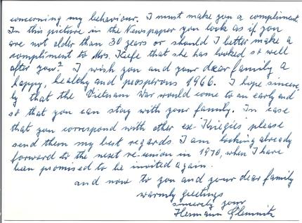 Glemnitz letter back