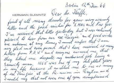 Glemnitz letter front
