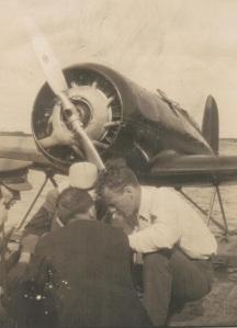 Lindbergh in Ottawa Aug 1930 Closeup