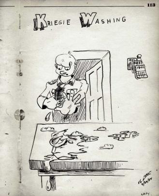 Kriegie Washing