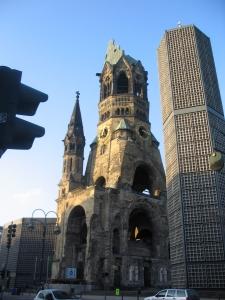 3 Kaiser Wilhelm Church in Berlin - damage remains